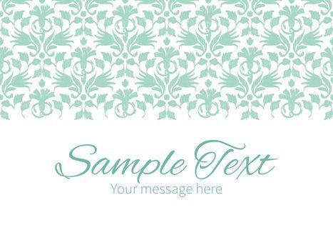 Vector abstract green ikat horizontal border greeting card invitation template graphic design