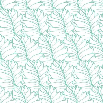 Vector Green Tropical Leaves Texture Seamless Pattern graphic design
