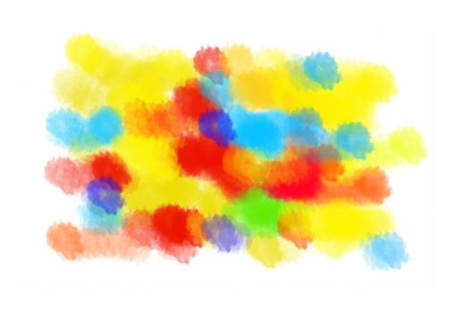 Abstract color blots texture