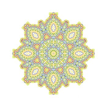 Color concentric pattern shape on white