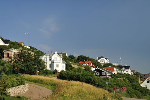 Image of the Swedish village of Molle by the foot of Kullaberg.