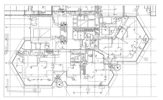 Architectural background - plan of the house