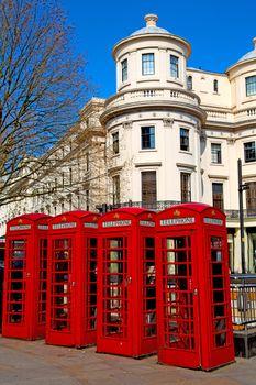 telephone in  obsolete box classic british icon