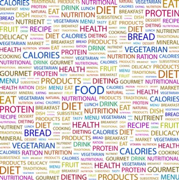 FOOD. Word cloud concept illustration. Wordcloud collage.