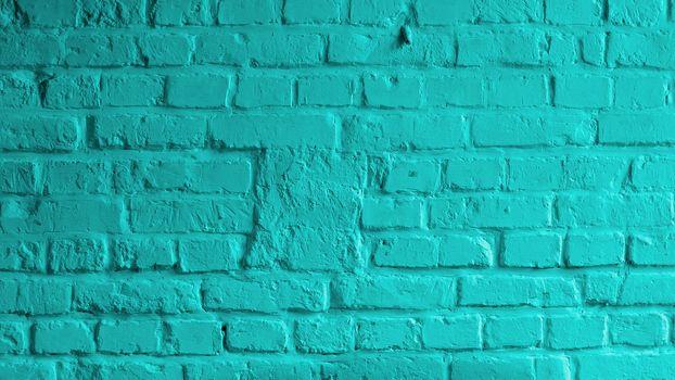 Turquoise Brick Background