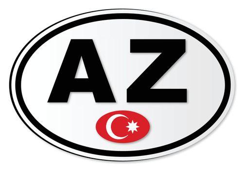 Azerbaijan AZ Plate