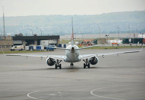 Airplane Rear View