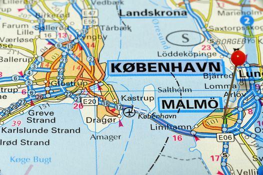 Closeup mal of Malmö. Malmö a city in Sweden.