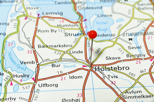 Map of Holsterbro in Denmark