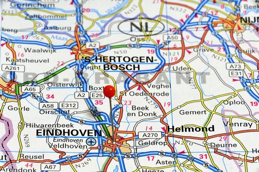European cities on map series: Eindhoven