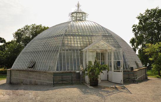 Old Greenhouse Dome in Bergianska garden in Stockholm.