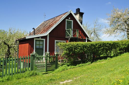 Swedish summer cottage on the countryside.
