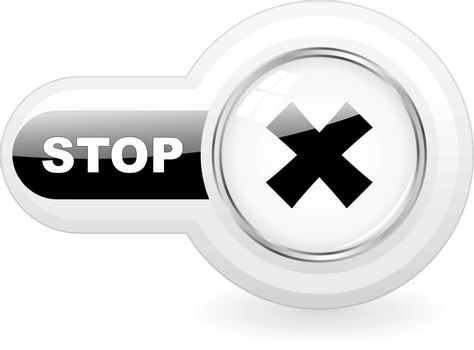 STOP icon. Usable for web design.