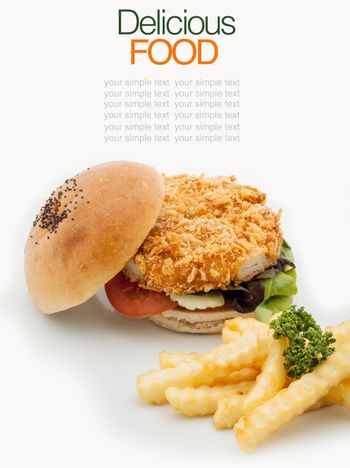 The ultimate homemade fish burger.