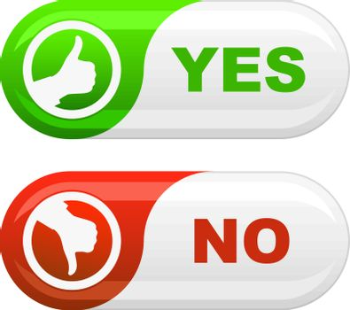 Yes and No icon set for design.