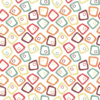 Creative abstract retro pastel colored grunge geometric seamless pattern background