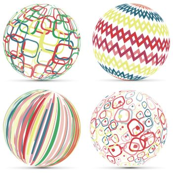 Business creative geometric pattern on 3d sphere logo template