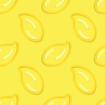 Colored Lemon Seamless Pattern Kid's Style Hand Drawn