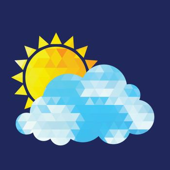 Weather Icon on black background. Vector illustration