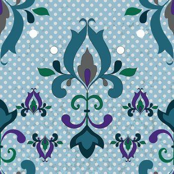 Damask seamless pattern for design.