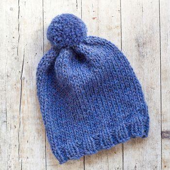 wool blue hat