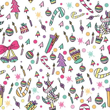 Colorful Pattern with Christmas Elements