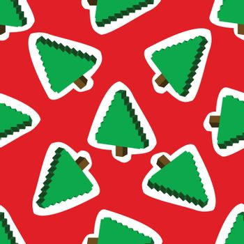 Seamless pattern with  Christmas trees on a backround.