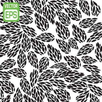 black and white hand drawn pattern. Vector illustration.