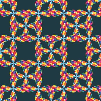 Multicolor seamless pattern abstract background