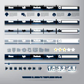 set of WEB design elements templates