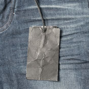 price tag on jean