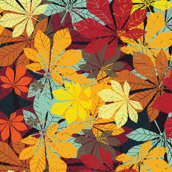 Leaf chestnut pattern - vector EPS silhouette
