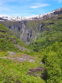 Aurlandsdalen, Norway, with a view to Sinjarbu farm