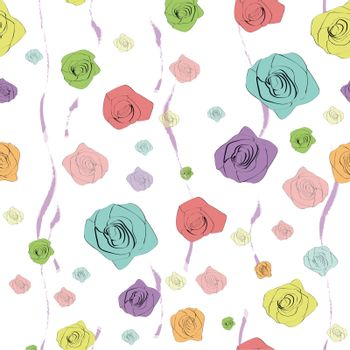 classical seamless rose pattern