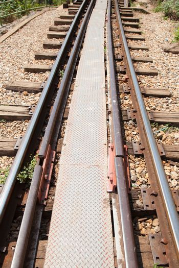 old railway tracks that has not yet come secondary tracks.