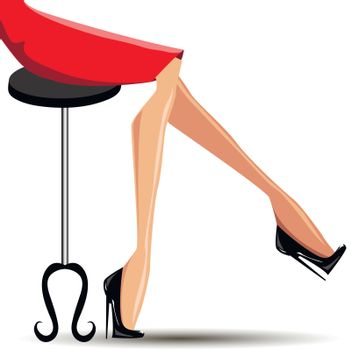 sexy woman legs with black shoes
