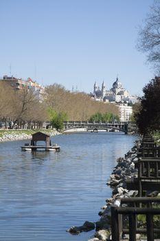 Madrid landmark from river