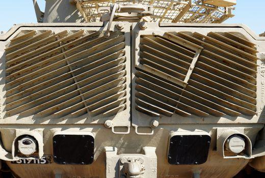 Radiator grill of M48 Patton tank