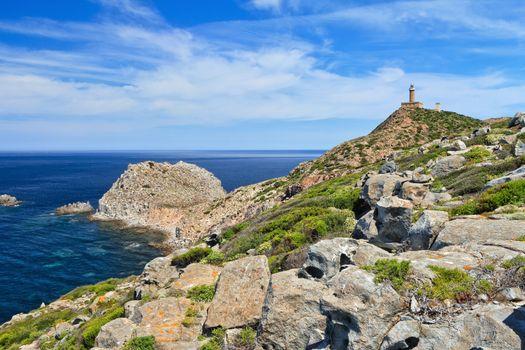 Sardinia - Capo Sandalo with lighthouse
