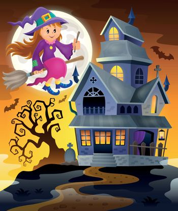 Image with haunted house thematics 9