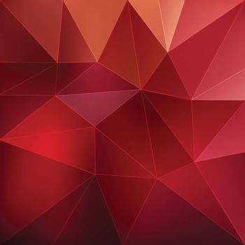Red abstract geometric triangular background vector illustration