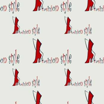 fashion seamless pattern backgrounds with abstract  red boots