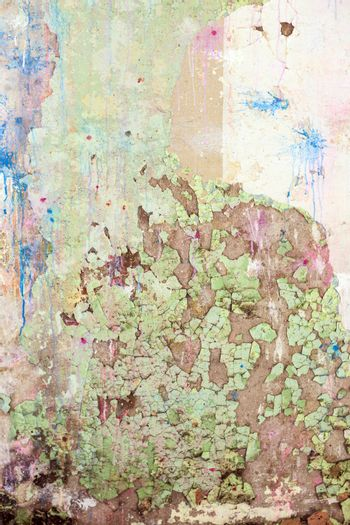 The Grunge Colored  Old Concrete Texture Wall