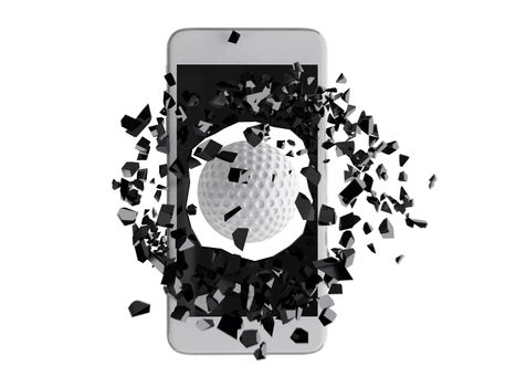 Golf burst out of the smartphone