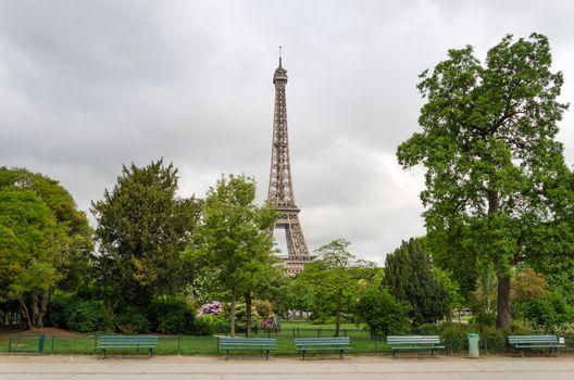 Eiffel Tower at Champ de Mars Park