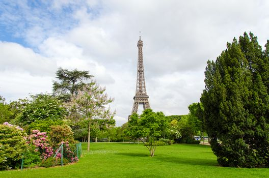 Champ de Mars Park with Eiffel Tower