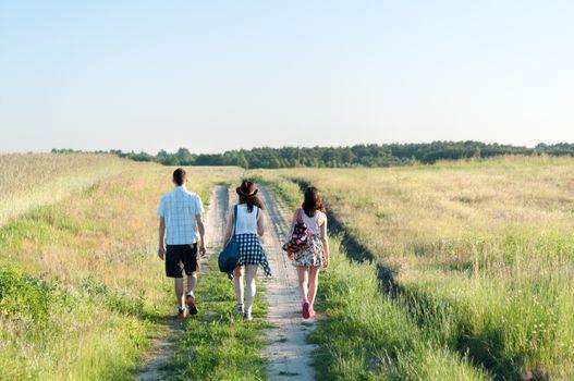 Teenagers Walking Away