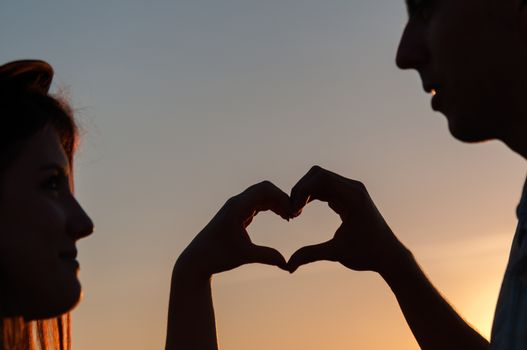 Heart Symbol In Sunset