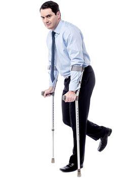Crutches, help me to walk.