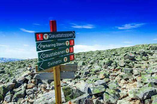Signs of the Norwegian Trekking Association